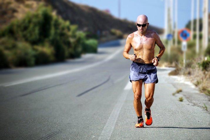 Burn calories jogging