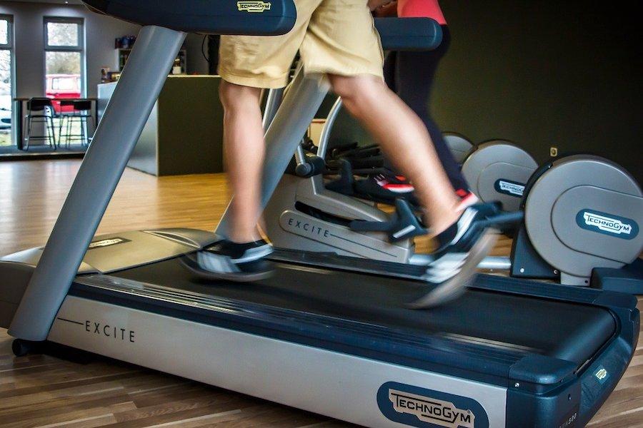 Sprinting on a treadmill