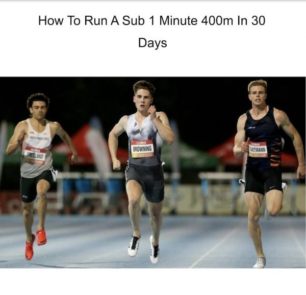 How to run a sub-1 minute 400m in 30 days